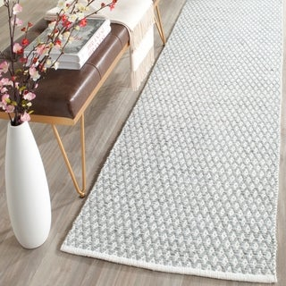 Safavieh Handmade Boston Flatweave Grey Cotton Rug (2'3 x 7')