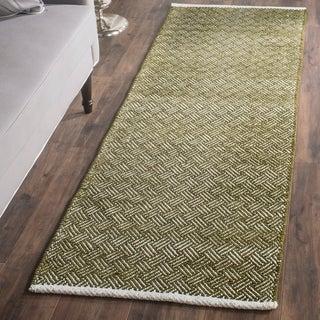 Safavieh Hand-Tufted Boston Olive Cotton Rug (2'3 x 7')
