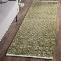 Safavieh Hand-Tufted Boston Olive Cotton Rug - 2'3 x 7'