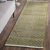 "Safavieh Hand-Tufted Boston Olive Cotton Rug - 2'3"" x 7'"