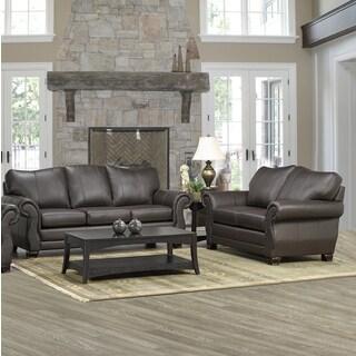 Madison Italian Leather Sofa and Loveseat Set