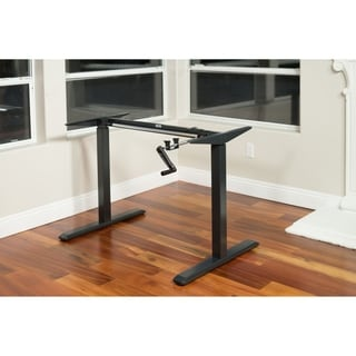 Black Adjustable Height Crank Desk