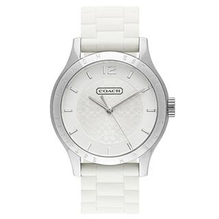 Coach Women's 14501803 Maddy Round White Silicone Strap Watch|https://ak1.ostkcdn.com/images/products/10581681/P17657071.jpg?impolicy=medium