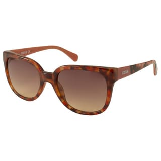 Kenneth Cole Reaction KC2729 Women's Red Havana Rectangular Sunglasses