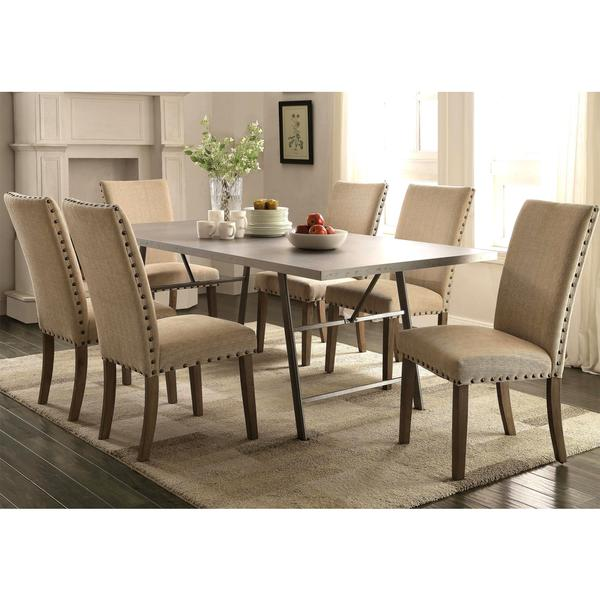 Holland Transitional Industrial Style 7 Piece Dining Set