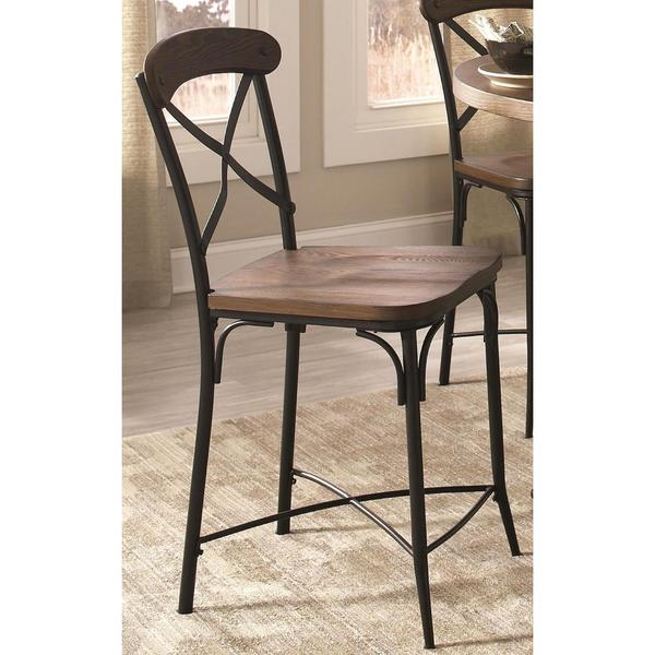 olympia crossback design twotone counter stool set of 2 free shipping today