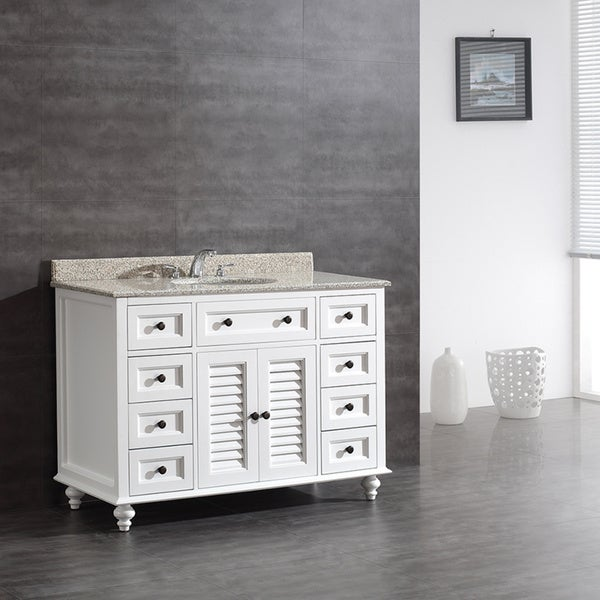 Ove Decors Heather 48 Inch Single Sink Bathroom Vanity With Granite Top Free Shipping Today