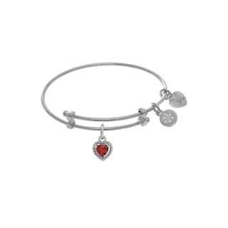 Angelica Birthstone Heart Shaped Tween Bangle