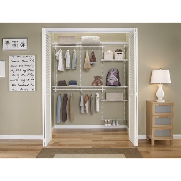 ClosetMaid ShelfTrack 5ft To 8ft Closet Organizer Kit, White   Free  Shipping Today   Overstock.com   17657187