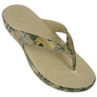 DAWGS Men's Mossy Oak Flip Flops - Break-Up Infinity