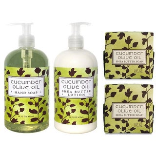 Cucumber and Olive Oil 4 Piece Botanical Spa Set