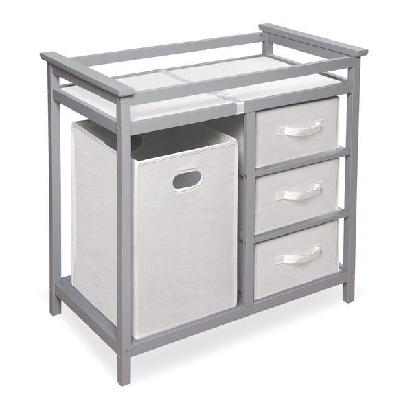 Badger Basket Modern Grey Changing Table with Baskets and ...