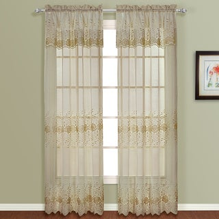 Luxury Collection Marianna Panel Pair with Attached Valance - 100 x 84