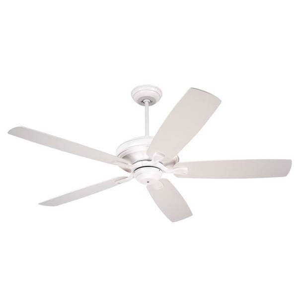 Emerson Carrera 60-Inch Satin White Transitional Ceiling Fan with Reversible Blades