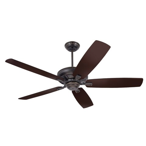 Emerson Carrera 60-Inch Golden Espresso Traditional Transitional Ceiling Fan with Reversible Blades