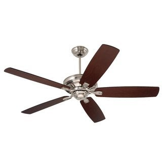 Emerson Carrera 60-Inch Brushed Steel Transitional Ceiling Fan with Reversible Blades