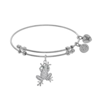 Angelica Frog Charm with White Cubic Zirconia