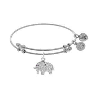 Angelica Elephant Charm with White Cubic Zirconia