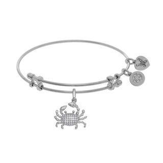 Angelica Crab Charm with White Cubic Zirconia