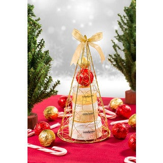Candycane Gold Iron-plated Christmas Tree Spa Gift Set