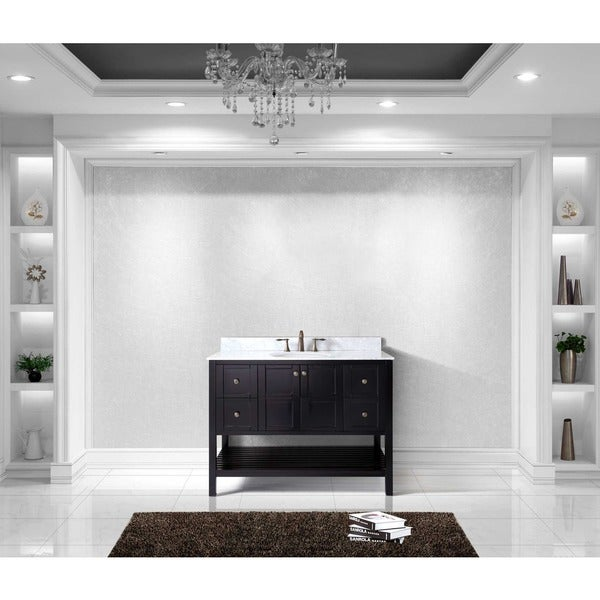 Virtu USA Winterfell 48 Inch Square Single Bathroom Vanity Set With No  Mirror