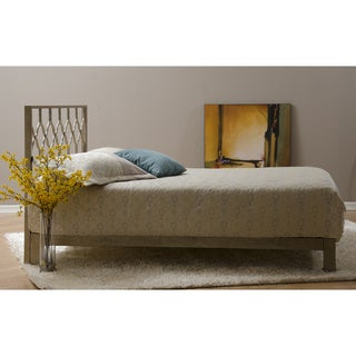 Motif Design Honeycomb Metal Headboard and Aura Deluxe Platform Bed - Gold
