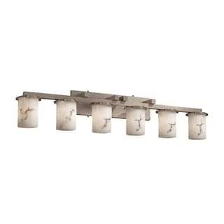 Justice Design Group LumenAria Dakota 6-light Brushed Nickel Bath Bar