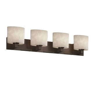 Justice Design Group Clouds Modular 4-light Dark Bronze Bath Bar
