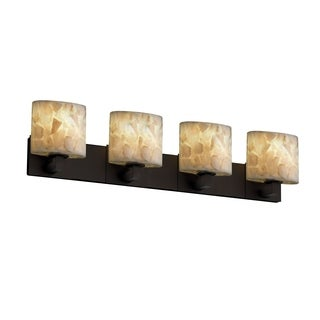 Justice Design Group Alabaster Rocks Modular 4-light Dark Bronze Bath Bar