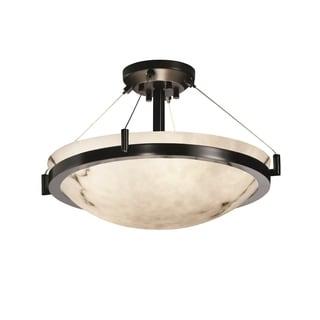 Justice Design Group LumenAria Ring 3-light Matte Black Semi-Flush