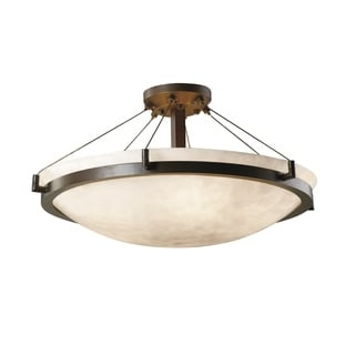 Justice Design Group Clouds Ring 6-light Dark Bronze Semi-Flush