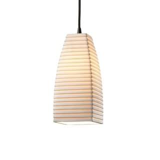 Justice Design Group Limoges 1-light Matte Black Pendant