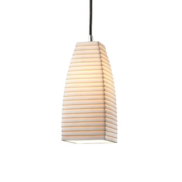 Justice Design Group Limoges 1-light Polished Chrome Pendant