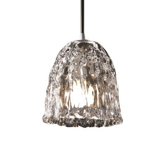 Justice Design Group Veneto Luce 1-light Brushed Nickel Pendant