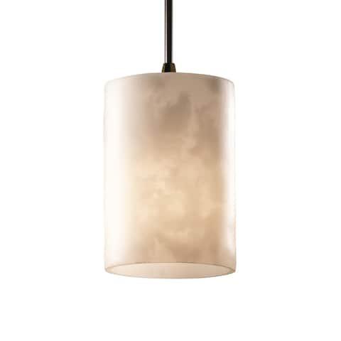 Justice Design Clouds 1-light Dark Bronze Pendant