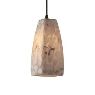 Justice Design Group Alabaster Rocks 1-light Dark Bronze Pendant