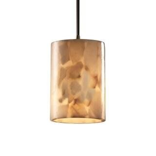 Justice Design Group Alabaster Rocks 1-light Antique Brass Mini-pendant