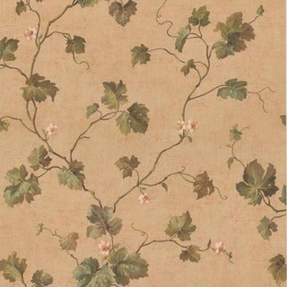 Beige Ivy Trail Wallpaper