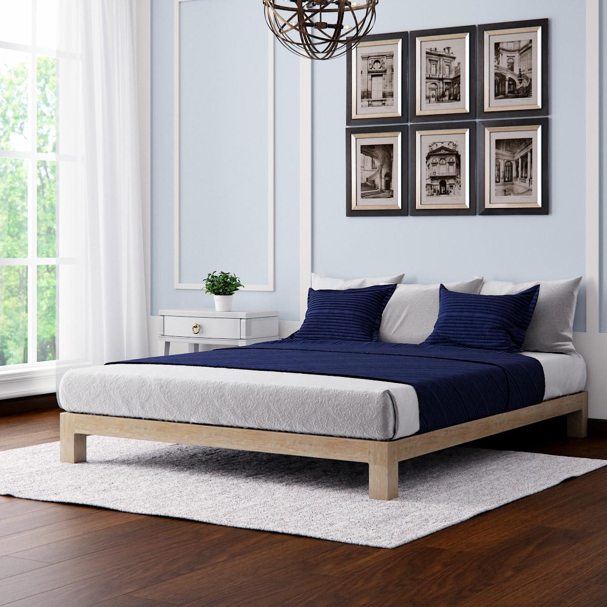 Motif Design Aura Deluxe Platform Bed - Gold