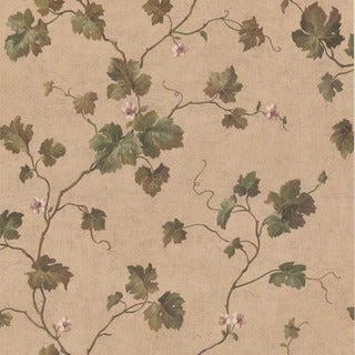 Lavender Ivy Trail Wallpaper