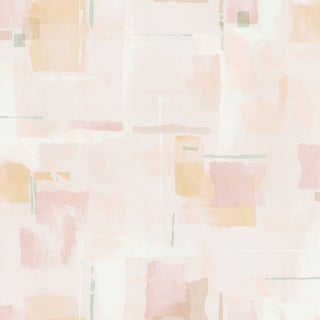 Peach Abstract Watercolor Geometric Wallpaper