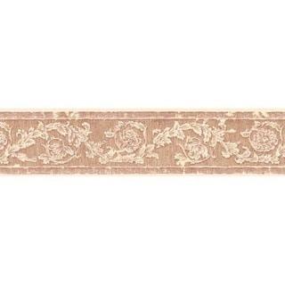 Red Decorative Scroll Wallpaper Border