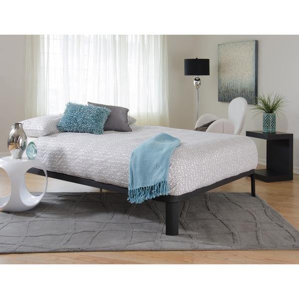 Black Platform Bed Part - 16: Motif Design Lunar Deluxe Black Platform Bed