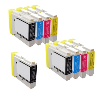 2Sets+1BK LC51 BK C Y M Compatible Ink Cartridge for Brother DCP-130C 540CN (Pack of 9)
