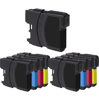 2Sets+1BK LC61 BK LC61 / LC65 (CYM) Compatible Ink Cartridge for Brother DCP-165c MFCAN-290C (Pack of 9)