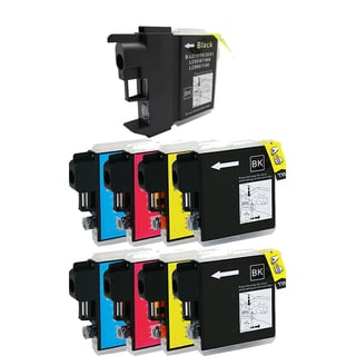 2Sets+1BK LC65 BK LC61 / LC65 (CYM) Compatible Ink Cartridge for Brother DCP-165c MFCAN-290C (Pack of 9)