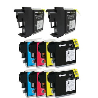 2Sets+2BK LC65 BK LC61 / LC65 (CYM) Compatible Ink Cartridge for Brother DCP-165c MFCAN-290C (Pack of 10)