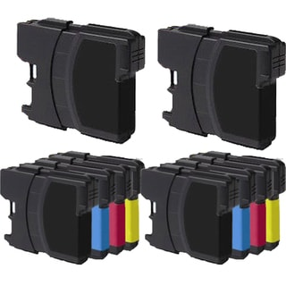 2Sets+2BK LC61 BK LC61 / LC65 (CYM) Compatible Ink Cartridge for Brother DCP-165c MFCAN-290C (Pack of 10)