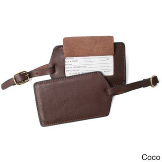 Royce Leather Luxury Travel Luggage Tag in Genuine Leather