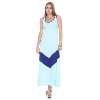 Stanzino Women's Sleeveless Colorblock Tank Maxi Dress